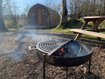 Camping Pod with Fire Pit